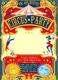 Circus Invitation Template Free Carnival Themed Invitations