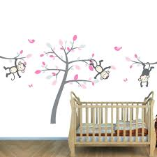 wall decals girl nursery superb pink wall decals nursery pink and gray  jungle hot pink wall . wall decals girl nursery ...