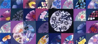 Japanese fabric: quilt patterns, motifs, sashiko, more - Stitch ... & Detail of Scrappy Yukata quilt Adamdwight.com