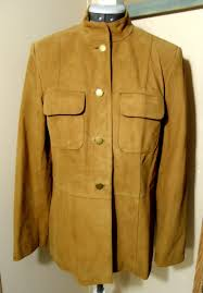 details about talbots suede leather jacket sz 6 camel brown on up casual blazer coat