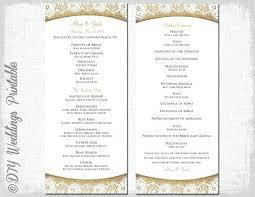 Wedding Day Program Template Guide For Wedding Program Template Free