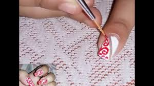 Nail Designs With Stripers Nail Art On Fabric Design Using Striper Brush And Adhesive