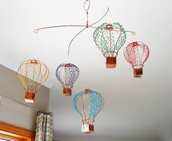 ... Copper Wire Hot Air Balloon Mobile from below | by Ruth Jensen