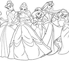 Coloring Pages Disney Princes Princess Ariel Printable Qnrfsubmission