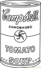 Small Picture Campbells Soup by Andy Warhol Coloring Page Free Andy Warhol
