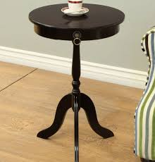 small round pedestal accent table