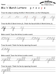 Cursive Letter Chart Free Printable Cursive Writing
