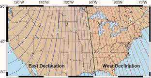 Magnetic Declination Chart Us Declination Map Compass Grid