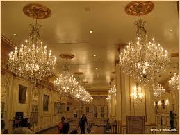 paris las vegas nevada large crystal chandeliers in the paris hotel lobby