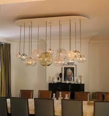 Industrial Dining Room Light Fixtures Wooden Metal Frame Table - Dining room light fixture glass