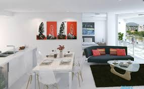 Interior Design For Apartment Living Room Fascinating Red White Black Decor Interior Design Ideas