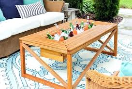 full size of wood outdoor coolers deck cooler canada plans coffee table with beverage home improvement