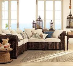 comfortable sectional couches. Fine Couches Tropical Sectional Sofas By Pottery Barn On Comfortable Couches O