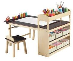 15 Kids Art Tables and Desks for Little Picassos | Kids art table, Paper  roll holders and Plywood