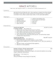 Food Service Resume Objective Examples – Slint.co