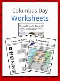 Columbus Day Facts, Worksheets & Historical Significance For Kids