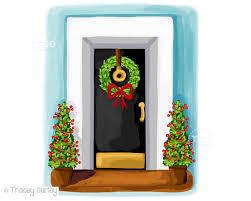 christmas front door clipart. Beautiful Front In Christmas Front Door Clipart P