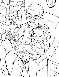 Small Picture Father And Daughter Reading Together And Daughter Coloring Pages