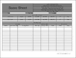 Football Score Sheet Printable - East.keywesthideaways.co