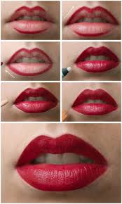 lips makeup tutorial step by step pictures