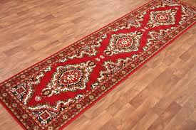 red cottage style long hall runner rugs carpet mats new lentine marine 15895