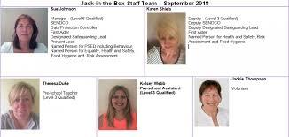 Jack In The Box Pre School Nursery Meet The Team