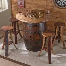 full size of whiskey barrel game table with stools wine enthusiast bar made out of barrels