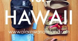 My packing list for a trip to Hawaii
