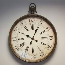 large vintage fob style wall clock