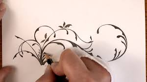 Small Picture Drawing Time Lapse a simple Floral Design with Pencil YouTube