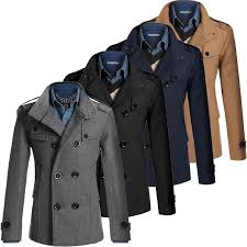 wool coat men s double ted peacoat long men jacket winter formal korean incoins com