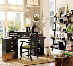 neutral office decor. Neutral Office Decor. Beautiful Leaning Bookshelf Plus Black Writing Desk With Double File Cabinets Feat Decor