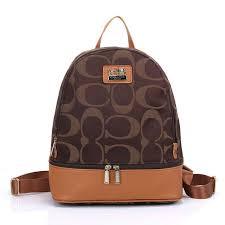 Coach Logo Monogram HW303 Backpack In Coffee ...