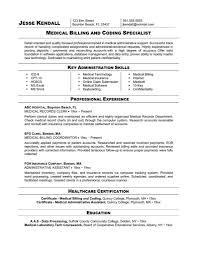 Medical Billing Resume Template Fascinating Free Sample Medical Biller Resume Job And Resume Template Medical