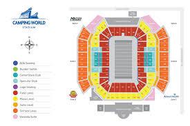 Amway Center Interactive Seating Chart Stadium Camping World Kickoff