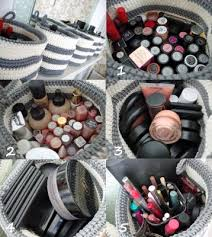 Creative makeup storage idea! These baskets are so cool. I love them!