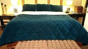 blue crushed velvet duvet cover bedding brilliant quilt set pottery barn king size navy bedspread