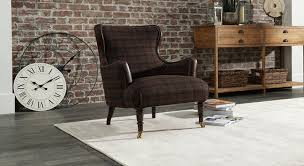 contemporary furniture styles. This Stylish Accent Chair Is Upholstered In The Finest Harris Tweed With Leather Detailing And Hand-studding On Back Inside Arm. Contemporary Furniture Styles
