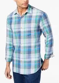 tommy bahama men s vero beach madras plaid linen shirt