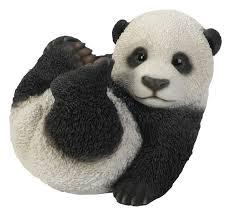 hi line gift ltd baby panda playing garden statue 87768 b