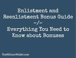 Enlistment And Reenlistment Bonus Guide Understanding The