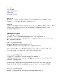 Machine Operator Job Description For Resume Heavy Equipment Operator Resume Heavy Equipment Operator Resume 98