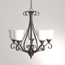 hampton bay 5 light oil rubbed bronze chandelier frosted glass shades iay8115a 4