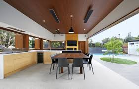 modern outdoor living melbourne. kitchen open to private courtyard. melbourne, australia (940 x 600). modern outdoor living melbourne