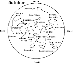 October Constellation Map Constellation Drawing