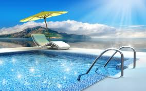 Perfect Swimming Pool Wallpaper Impressive Picture Of With Beautiful Design