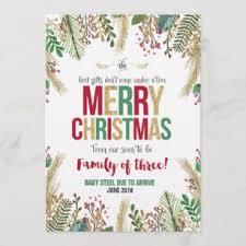 Christmas Pregnancy Announcement Card Major Magdalene