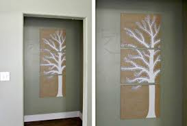 panel art of a tree is in hallway