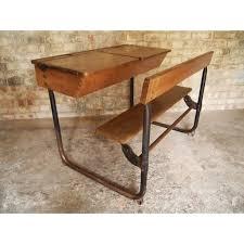 vintage school desk bench