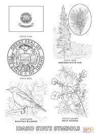 Small Picture Idaho State Symbols coloring page Free Printable Coloring Pages